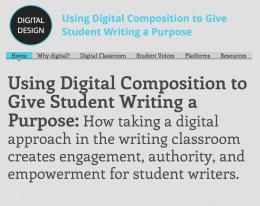 Students and Digital Composition http://kandre17.wixsite.com/digitaldesign