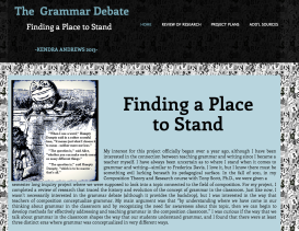 Digital Review of Research http://kandre17.wixsite.com/thegrammardebate