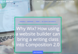 Why use Wix with students? http://kandre17.wixsite.com/whywix