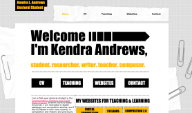 My first professional website http://kandre17.wixsite.com/kendralandrews