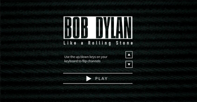 Visit http://video.bobdylan.com/desktop.html to experience his interactive video/composition.